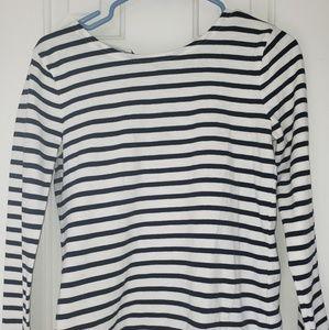 J-Crew women's striped shirt